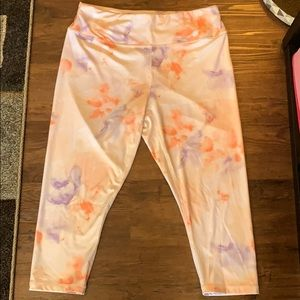 Joe Fresh size 1X pastel cropped leggings
